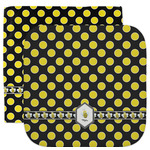 Bee & Polka Dots Facecloth / Wash Cloth (Personalized)