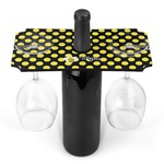 Bee & Polka Dots Wine Bottle & Glass Holder (Personalized)