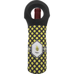 Bee & Polka Dots Wine Tote Bag (Personalized)
