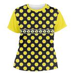Bee & Polka Dots Women's Crew T-Shirt (Personalized)