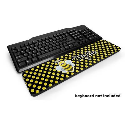 Bee & Polka Dots Keyboard Wrist Rest (Personalized)