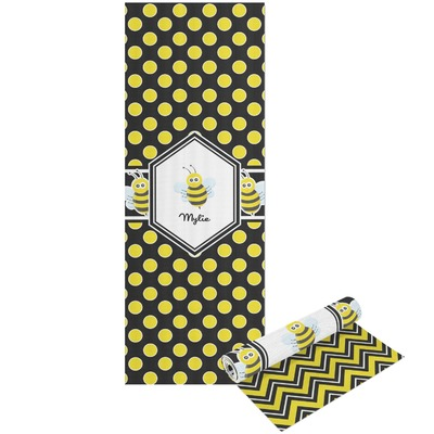 Bee & Polka Dots Yoga Mat - Printable Front and Back (Personalized)