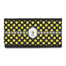 Bee & Polka Dots Leatherette Ladies Wallet (Personalized)