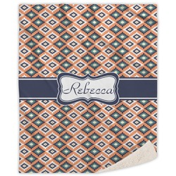 Tribal Sherpa Throw Blanket (Personalized)