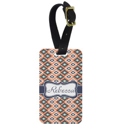 Tribal Aluminum Luggage Tag (Personalized)