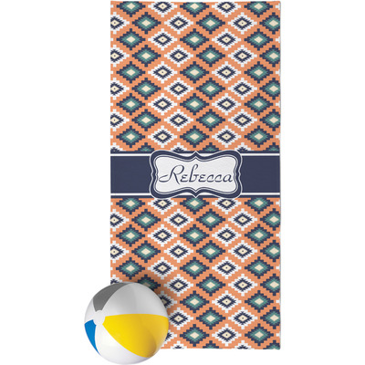 Tribal Beach Towel (Personalized)