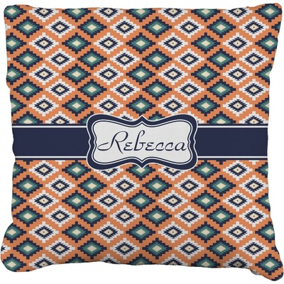 """Tribal Faux-Linen Throw Pillow 26"""" (Personalized)"""