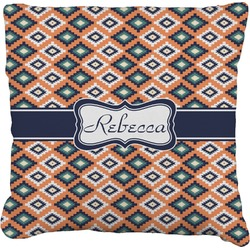 Tribal Faux-Linen Throw Pillow (Personalized)