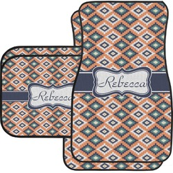 Tribal Car Floor Mats Set - 2 Front & 2 Back (Personalized)