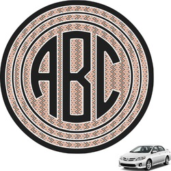 Tribal Circle Monogram Car Decal (Personalized)