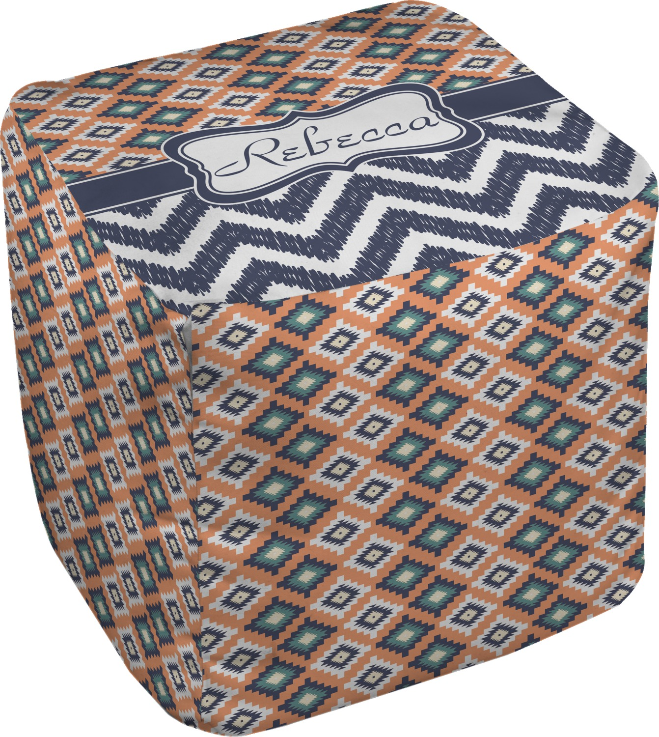tribal cube pouf ottoman personalized youcustomizeit. Black Bedroom Furniture Sets. Home Design Ideas