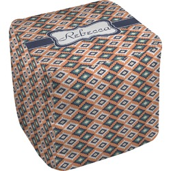 Tribal Cube Pouf Ottoman (Personalized)