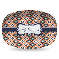 Tribal Plastic Platter - Microwave & Oven Safe Composite Polymer (Personalized)