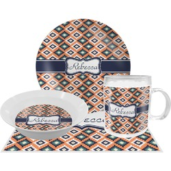 Tribal Dinner Set - 4 Pc (Personalized)