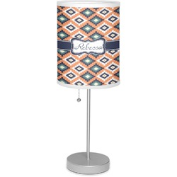 "Tribal 7"" Drum Lamp with Shade (Personalized)"