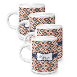 Tribal Espresso Mugs - Set of 4 (Personalized)
