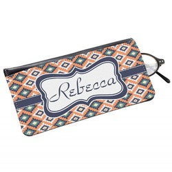 Tribal Genuine Leather Eyeglass Case (Personalized)