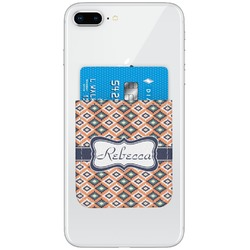 Tribal Genuine Leather Adhesive Phone Wallet (Personalized)