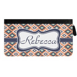 Tribal Genuine Leather Ladies Zippered Wallet (Personalized)