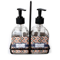 Tribal Soap & Lotion Dispenser Set (Glass) (Personalized)