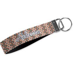 Tribal Webbing Keychain Fob - Small (Personalized)