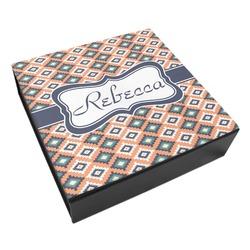 Tribal Leatherette Keepsake Box - 3 Sizes (Personalized)