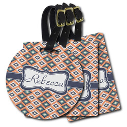 Tribal Plastic Luggage Tags (Personalized)