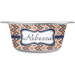 Tribal Stainless Steel Dog Bowl (Personalized)