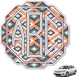 Tribal Monogram Car Decal (Personalized)