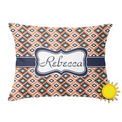 Tribal Outdoor Throw Pillow (Rectangular) (Personalized)