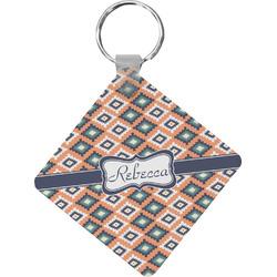 Tribal Diamond Key Chain (Personalized)