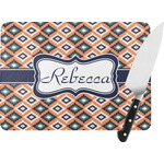 Tribal Rectangular Glass Cutting Board (Personalized)