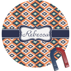 Tribal Round Magnet (Personalized)