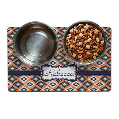 Tribal Dog Food Mat (Personalized)