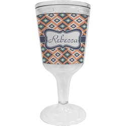 Tribal Wine Tumbler - 11 oz Plastic (Personalized)