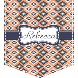 Tribal Iron On Faux Pocket (Personalized)