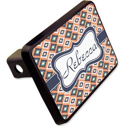 "Tribal Rectangular Trailer Hitch Cover - 2"" (Personalized)"