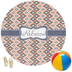 Tribal Round Beach Towel (Personalized)