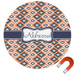 Tribal Round Car Magnet (Personalized)