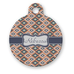 Tribal Round Pet Tag (Personalized)
