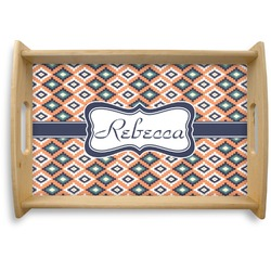 Tribal Natural Wooden Tray (Personalized)