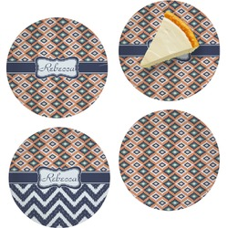 Tribal Set of Appetizer / Dessert Plates (Personalized)