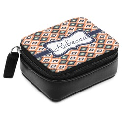 Tribal Small Leatherette Travel Pill Case (Personalized)