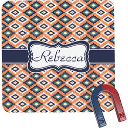 Tribal Square Fridge Magnet (Personalized)
