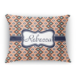 Tribal Rectangular Throw Pillow Case (Personalized)