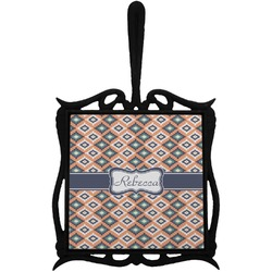 Tribal Trivet with Handle (Personalized)