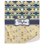 Tribal2 Sherpa Throw Blanket (Personalized)