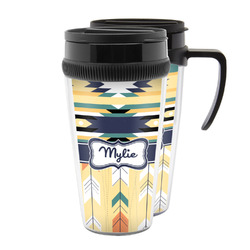 Tribal2 Acrylic Travel Mugs (Personalized)