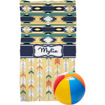 Tribal2 Beach Towel (Personalized)