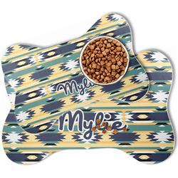 Tribal2 Bone Shaped Dog Food Mat (Personalized)